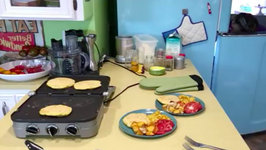 Griddler Chickpea Pancakes And Breville Scramble Breakfast