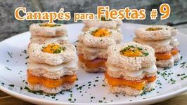 Canapés para Fiestas 9 - Canapé de Pan de Molde versión del Sandwich Mixto con Huevo