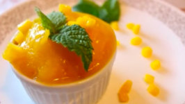 Mango Rose-Water Lime Sorbet - Rule Of Yum Recipe