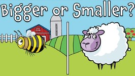Bigger or Smaller? Farm Animal Guessing Game for Kids