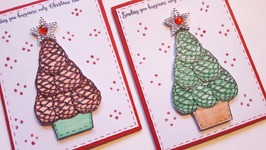 PINECONE CHRISTMAS TREE CARD  MAYMAY MADE IT DESIGN TEAM