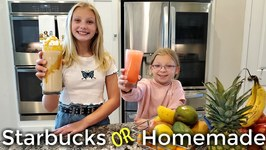 Starbucks or Homemade - How To Make Refreshing Summer Drinks - Delicious