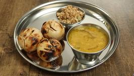 Rajasthani Dal Bati Recipe - How To Make Dal Baati Churma - Main Course Recipe - Varun