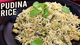 Pudina Rice / How To Make Mint Rice / Quick And Easy Pudina Pulao Recipe / Healthy Green Rice / Ruchi
