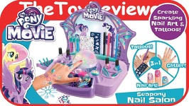 My Little Pony Seapony Nail Salon Glitter Tattoo Stickers Art Unboxing Toy Review