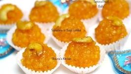 Sabudana Or Sago Laddus/Ladoos / Sweetened Tapioca Pearl Balls