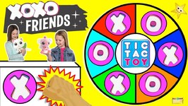 Tic Tac Toy XOXO FRIENDS Spinning Wheel Game w/ Surprise Toys