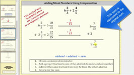 Add Mixed Numbers Using The Compensation Method