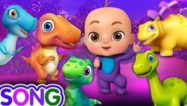 Five Little Dinos Went Out One Day - Dinosaur Rhymes for Kids - 3D Nursery Rhymes and Songs