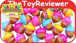 Lil Woodzeez Bobbleez Series 3 Blind Bags Bobbleheads Acorn Unboxing Toy Review