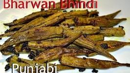 Bharwan Bhindi - Authentic Punjabi Recipe - Stuffed Spicy Okra