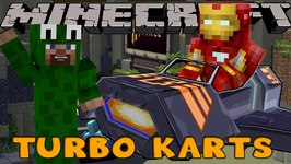Minecraft MineVengers - TURBO KART RACING vs LITTLELIZARD!