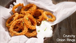 How To Make Crunchy Onion Rings - Eggless Recipe