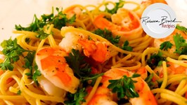 Garlic Shrimp Spaghetti - Classic Aglio E Olio Recipe With Shrimp