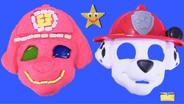 Making PAW PATROL MARSHALL with Kinetic Sand- PEZ-Slime-Mask- Surprise Toy Games - LEARN COLOR