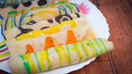Patterned Milk Fudge Crepe - Bengali Nokshi Patishapta Pitha - Designer Patishapta Recipe