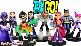 Teen Titans Go Hero World Series 3 By Funko With Batman Nightwing Cyborg Jinx Robin And Raven