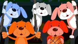 Five Little Puppies - Cartoon Videos For Toddlers - Kids Tv Nursery Rhymes For Babies