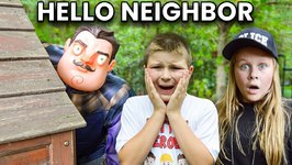 Hello Neighbor Showdown In Halloween Town Featuring The Assistant Pretend Play Kids Skit