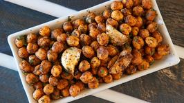 Chana Koliwada Recipe In Marathi - Dhaba Style Chana Fry - Veg Starter Recipe - Smita