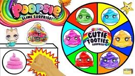 POOPSIE CUTIE TOOTIES SURPRISE Spinning Wheel Slime Game w/ Surprise Slime Toys