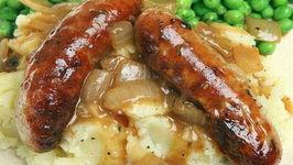 Sausages In Brown Onion Gravy