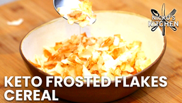 Keto Frosted Flakes Cereal Recipe / Low Carb Corn Flakes Alternative