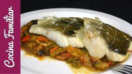 Bacalao con sanfaina de verduras paso a paso