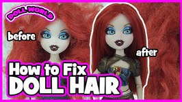 Doll Makeover Bratzillaz Meygana Broomstix How to Fix Doll Hair