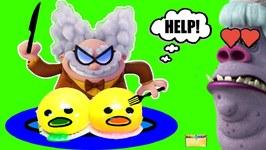 Evil CHEF BERGEN Cooks -Gudetama Toy Food- for Prof P Surprise Toys Blind Boxes Game