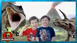 Dinosaurs & Animals for Kids. Giant Dinosaur & T-Rex Slime Set with Chase and Cole Adventures