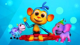 Five Little Monkeys-Popular Children's Nursery Rhymes