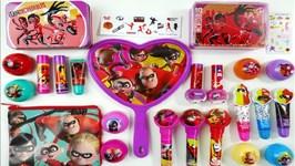 New Incredibles 2 Lip Balm And Lip Gloss Makeup Haul