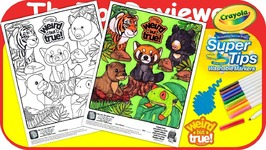McDonalds National Geographic Happy Meal Coloring Page Crayola Unboxing Toy Review