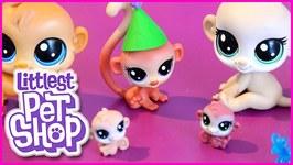 Littlest Pet Shop Monkey Birthday Bash and Frosting Frenzy Strawberry Friends