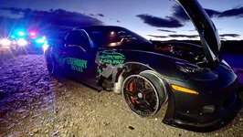 HIGH SPEED DISASTER Corvette BLOWS TIRE At 200 MPH