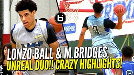 Lonzo Ball And Miles Bridges Unreal Duo At Ballislife All American Scrimmage Crazy Highlights