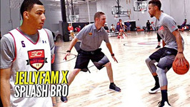 Steph Curry X Jellyfam Jahvon Quinerly Getting Better Workout Drills And Scrimmage At - SC30Select
