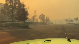 Wind-Driven Fires Spread in Southern California