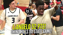Liangelo Ball 52 Pts In Chino Hills Crazy 1st State Game Lamelo Triple Double - Epic Dance Battle