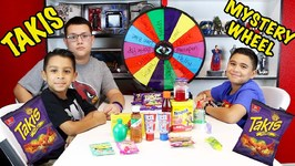 TAKIS MYSTERY WHEEL CHALLENGE - 14 INGREDIENTS - D and D SQUAD