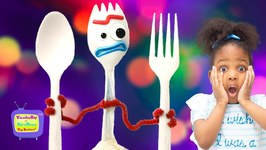 Kyraboo Meets Forky  Toy Story 4 Skit