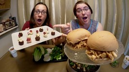 Pulled Turkey Sandwiches, Coleslaw And Chocolate Truffles / Gay Family Mukbang - Eating Show