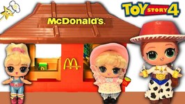 TOY STORY 4 CUSTOM LOL DOLLS go to MCDONALD'S for Happy Meals, Surprise Toys