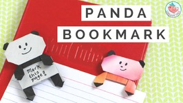 Origami Panda Bookmark Tutorial - How to Fold an Origami Panda