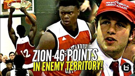 Zion Williamson 46 Points Vs Jalen Lecque In Season Opener Makes Nc Hoops History