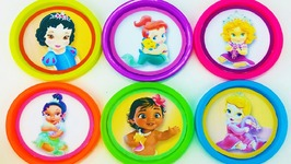 Play Doh Disney Princess Baby Ariel Rapunzel Learn Colors Surprise Eggs