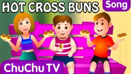Hot Cross Buns Nursery Rhyme With Lyrics - Cartoon Animation Rhymes and Songs for Children
