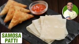 How To Make Samosa Patti - Homemade Samosa Roll Sheet - Samosa Folding - Onion Samosa Recipe - Varun