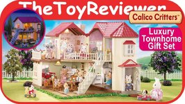 Calico Critters Luxury Townhome Gift Set Bonus Cloverleaf Unboxing Toy Review
